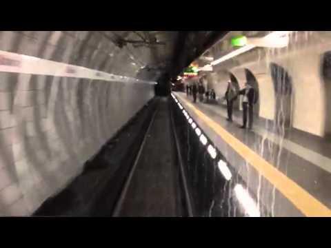 Con il macchinista della metro .(Roma)