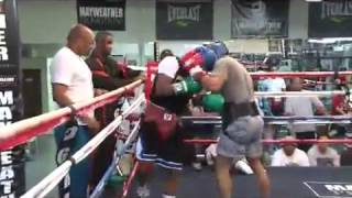 Floyd 'Money' Mayweather Jr. - Live Sparring Session w/ Omar Henry [1 of 3]