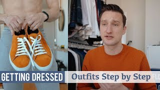 How I Styled These Orange Sneakers | Men's Spring Fashion | Getting Dressed #25