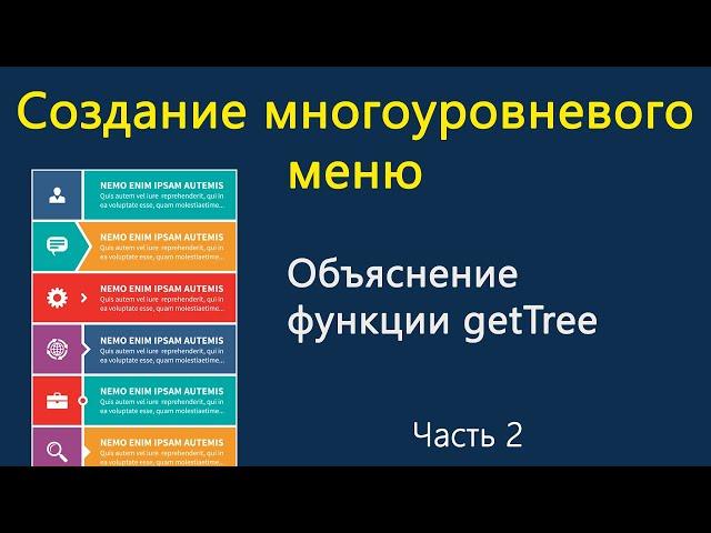 Создание многоуровневого меню. Объяснение функции getTree. Часть 2