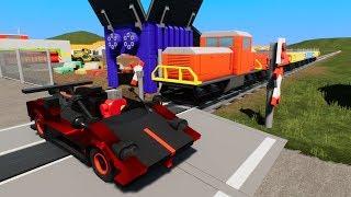 MASSIVE LEGO Train Wrecks #34 - Brick Rigs Gameplay - Lego Toy Destruction