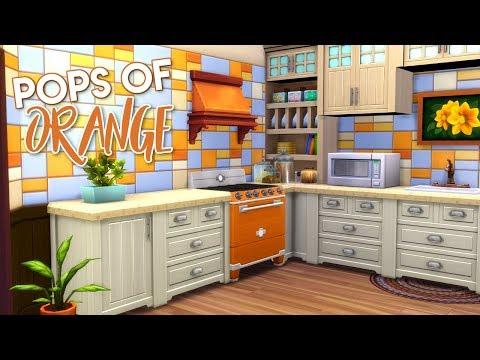 POPS OF ORANGE || The Sims 4 Apartment Renovation