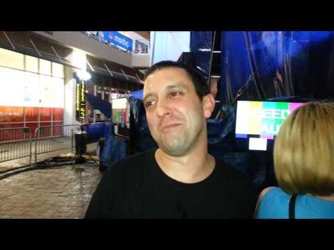 DNC 2012 Me calling Chris Mathews a germaphobe
