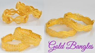 Gold Bangles Designs    Latest Gold Bangles With Weight    Bangles Design