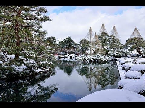 雪景色の兼六園・ 金沢城Snow scene Kenrokuen and Kanazawa castle
