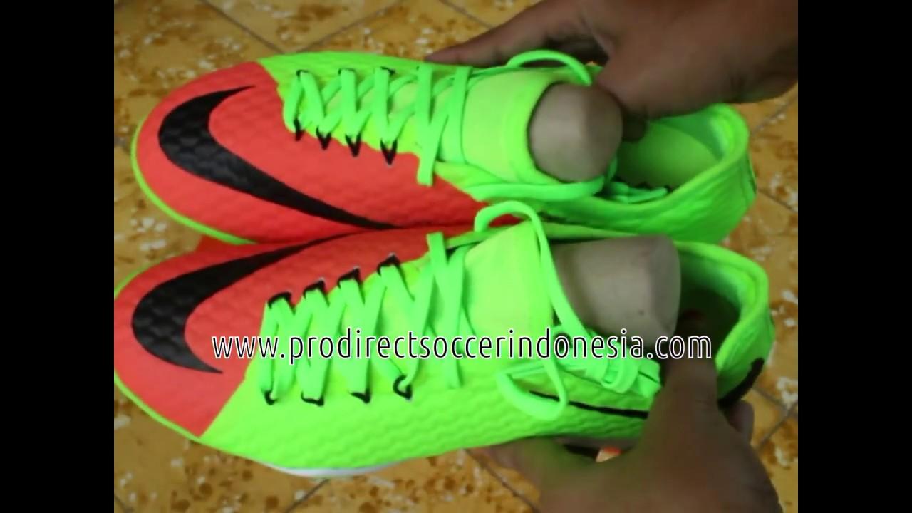 Sepatu Futsal Nike Hypervenomx Finale II IC Electric Green Black 852572 308  Original 17c0ed85b51
