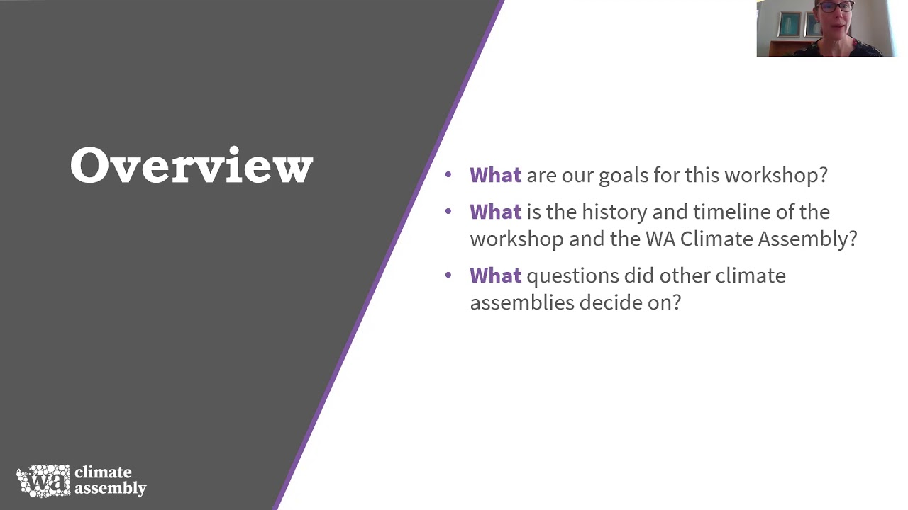 Scoping Workshop: WA Climate Assembly (11/10/2020)