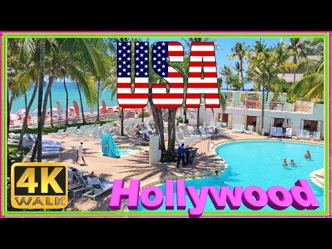【4k】walk-hollywood-beach-walking-tour-florida-2019-usa-virtual-hike-4k-documentary-dji-osmo-mobile-2