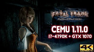 CEMU 1.11.0 | FATAL FRAME: MAIDEN OF BLACK WATER | 4K GRAPHIC PACK