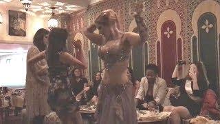 Drum solo by belly dancer Fernanda