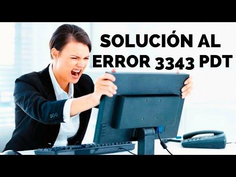 Error 3343 PDT (Solucion)