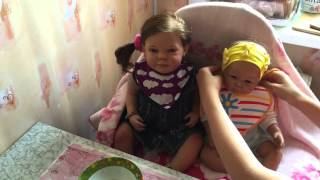 Обедаем с детишками))🍼🍲🍨