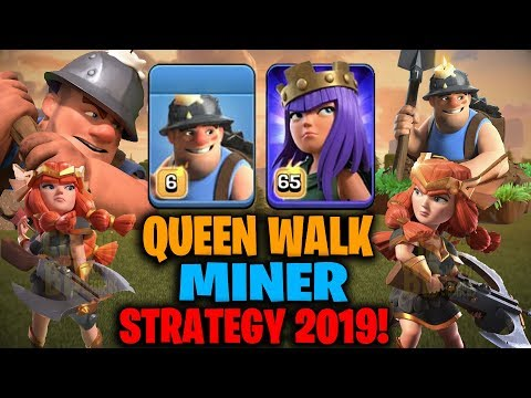 Queen Walk Miner Strategy 2019! Best Miner Army For TH12 War Attack | Clash Of Clans