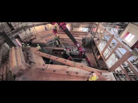 UNIC mini spider crane helps build the Sam Wanamaker Playhouse