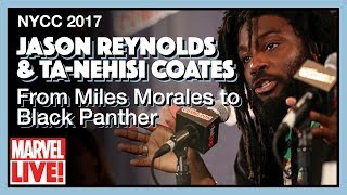From Miles Morales to Black Panther - Jason Reynolds & Ta-Nehisi Coates - NYCC 2017 thumbnail
