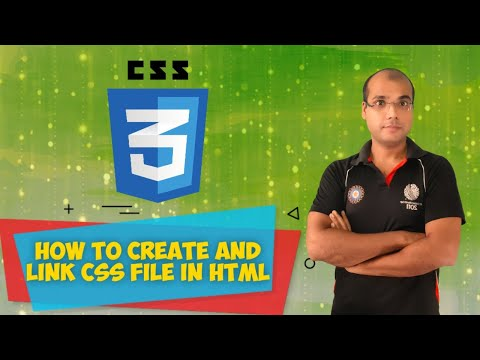 How To Link CSS To HTML Document | External CSS  HTML Tutorial For Beginners In Hindi