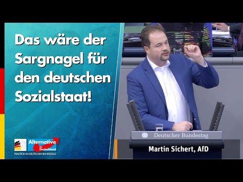 Das wäre der Sargnagel für den deutschen Sozialstaat! - Martin Sichert - AfD-Fraktion im Bundestag