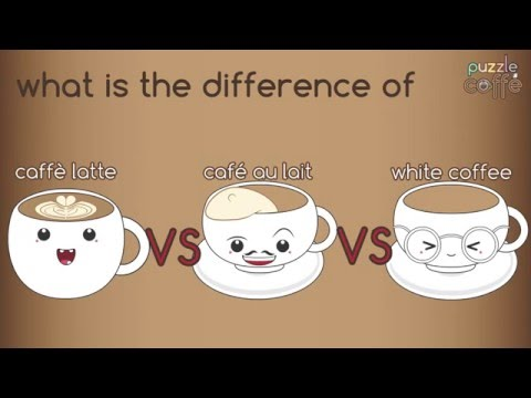 What is the difference of Caffè Latte, Café au lait & White Coffee? [Puzzle Caffe]