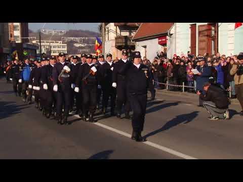 1 Decembrie la Mediaș   Parada Militară pe str. Mihai Eminescu - novatv.ro
