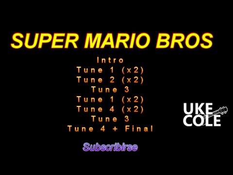 Super Mario  TUNES for Ukulele. Karaoke
