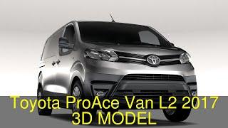 3D Model of Toyota ProAce Van L2 2017 Review