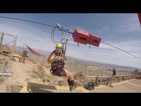 Flightlinez Bootleg Canyon Zipline Tour - FULL VIDEO TOUR (Near Las Vegas)