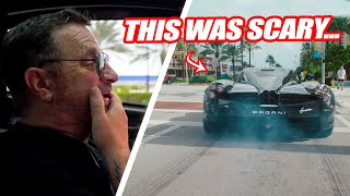 RANDY DOES HIS FIRST BURNOUT IN THE PAGANI HUAYRA! + Pagani Vs. Koenigsegg Thoughts!