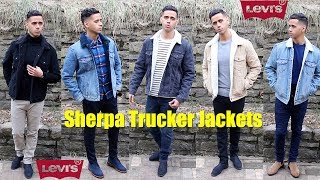 Levi's Sherpa Trucker Jackets Sizing & Review + Levis Leather Trucker Jacket How To Style