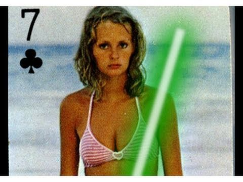 Bikini trading cards, hot girl bikini cowboy hat video