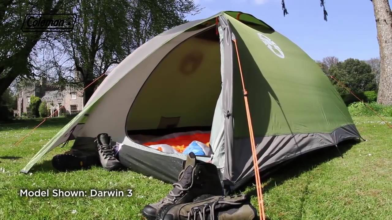 Coleman® Darwin 2. Two person active tent & Coleman® Darwin 2. Two person active tent - YouTube
