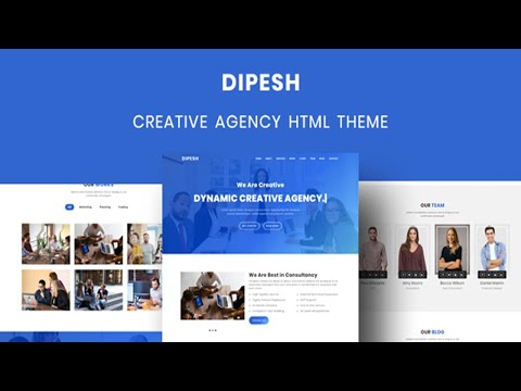 Dipesh - Creative Agency HTML Template | Bootstrap 4 Theme