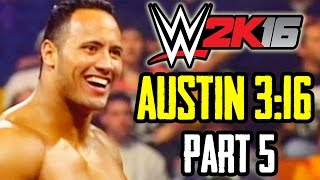 WWE 2K16 - 2K Showcase [Austin 3:16] Part 5 - Stone Cold vs. The Rock (In Your House 1997)