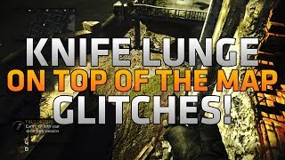 COD Ghosts - On Top of the Map Glitches! - 4 Knife Lunges on Siege & Chasm