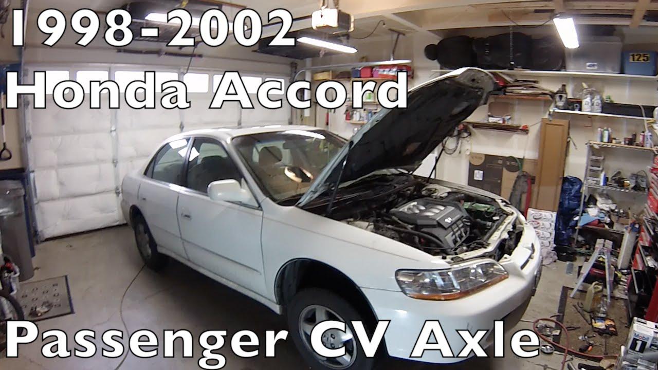 Honda Accord Cv Axle Halfshaft Replace 1998 To 2002 Youtube Acura Tl Engine Diagram