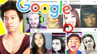 Google Arts Selfie App With Youtubers!! Pewdiepie, Natalies Outlet, Ka