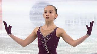 Мария Парамонова Произвольная программа Первенство России по фигурному катанию среди юниоров 2021