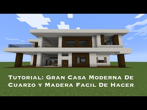 Como hacer una casa moderna en minecraft paso a paso for Tutorial casa moderna grande minecraft