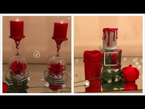 DOLLAR TREE DY WINE GLASS CANDLE HOLDERS   FROM VALENTINES DAY TO MOTHERS DAY ❤️