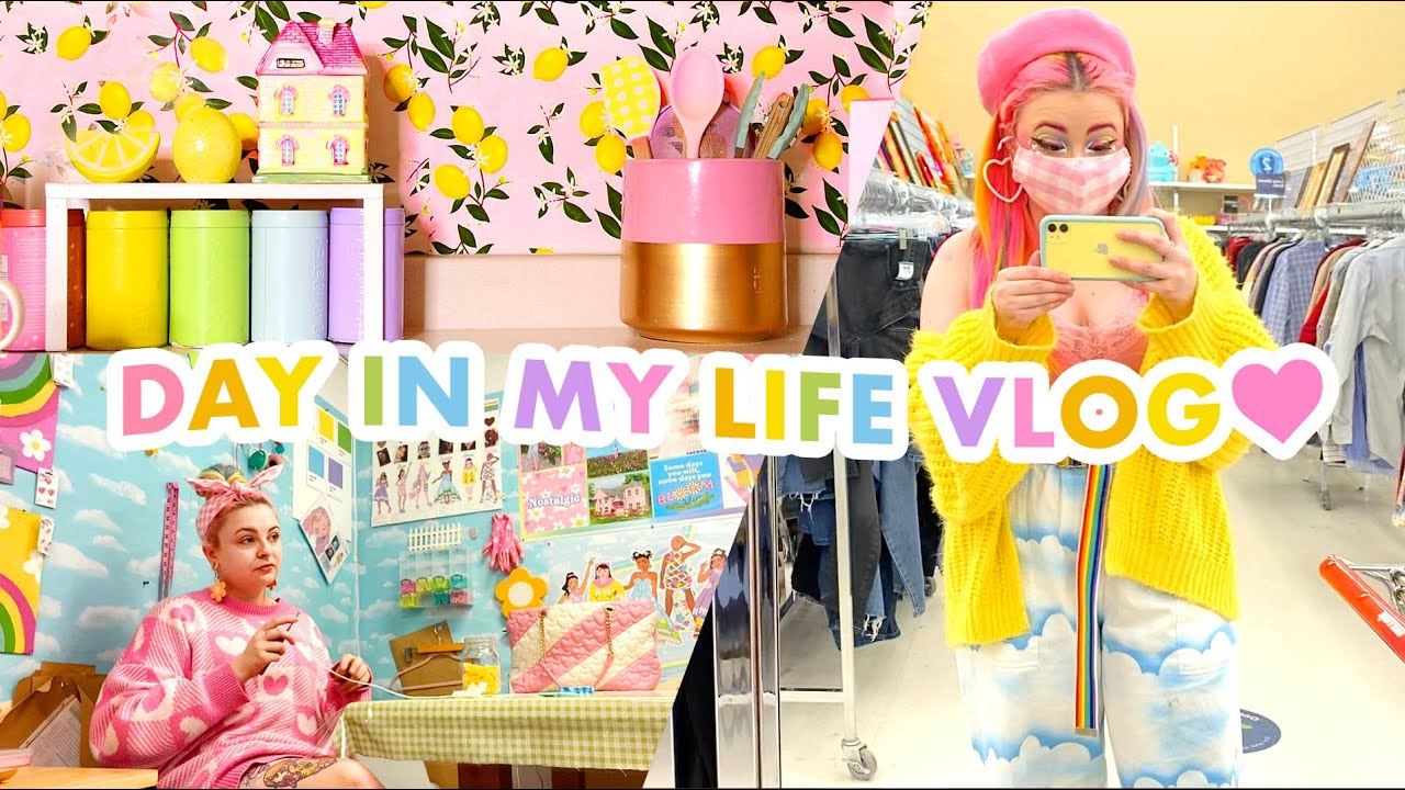 Cozy Day Vlog! Follow Me Around Fashion School, Thrifting, & More 🌈