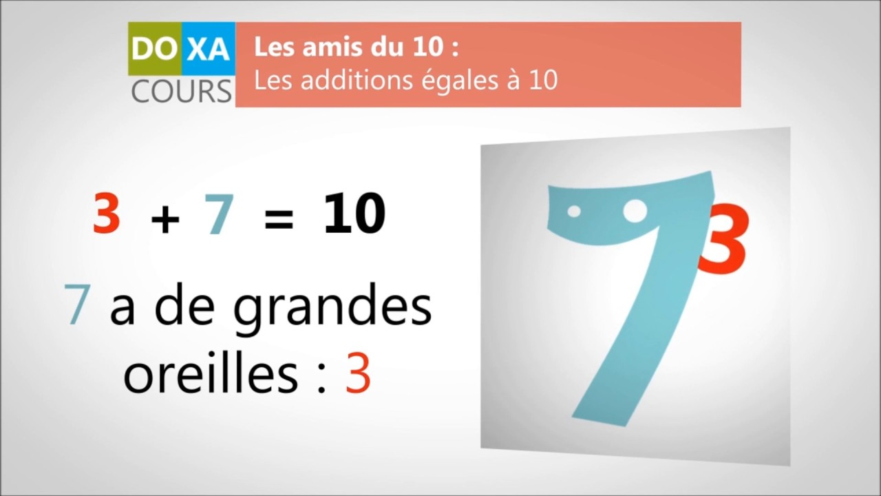 apprendre les tables d 39 addition compl ments 10 youtube