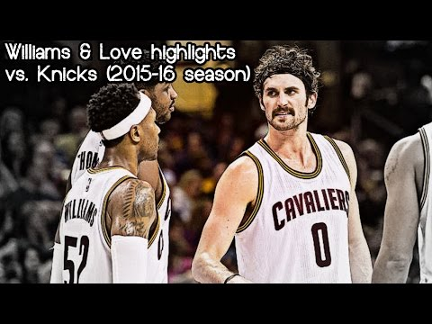Mo Williams & Kevin Love 33 pts & 5 ast combined vs. Knicks (NBA RS 2015/2016) - 04.11.2015