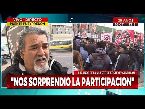 Tensión en el puente Pueyrredón entre la policía y manifestantes