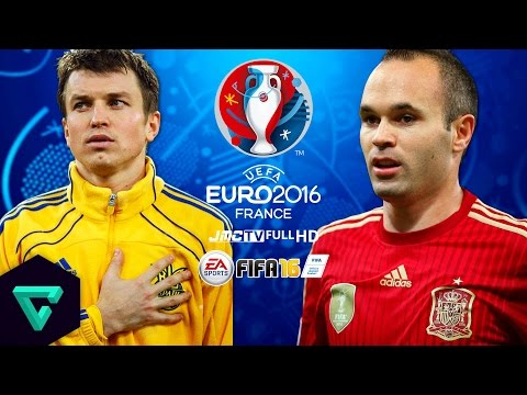 Ukraine vs. Spain | Quarter-Finals | UEFA Euro 2016 Simulation | FIFA 16