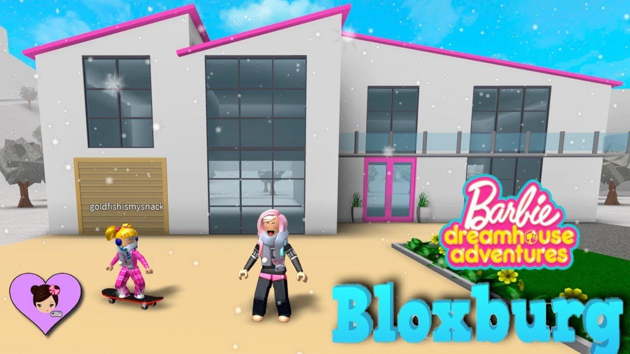 Building A Barbie Dreamhouse Adventures House In Bloxburg Roblox