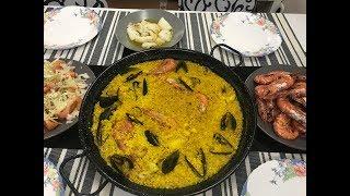 Типичный обед в Испании / Морепродукты / Паэлья