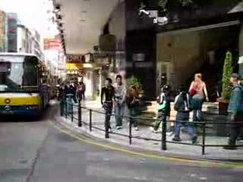 Busy street in Macao, China