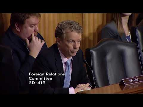Sen. Rand Paul at Senate Foreign Relations Committee Hearing on Afghanistan - Feb. 6, 2018
