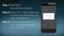 How To Set Up Call Forwarding - Verizon