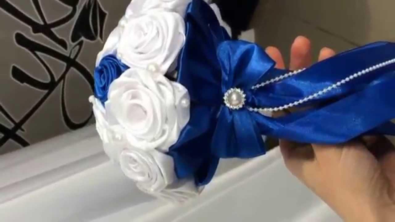 Букет невесты своими руками из лент видео