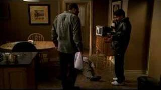 Sopranos-Tony&Chrissy clean up after Ralph